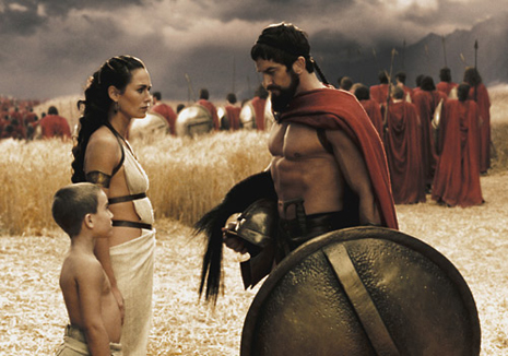 Until Johnny comes marching home: Lena Headey and son send Gerard Butler to face the Persian army in the Battle of Thermopylae