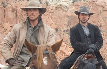 """American Psycho Western: Christian Bale and Russell Crowe in """"3:10 to Yuma"""""""