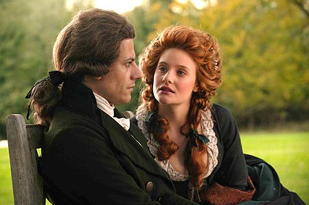 """It was called """"courtship"""" back then: Romola Garai goes straight  to Ioan Gruffudd's heart by appealing to his reason"""