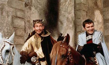 "Bosom buddies: Peter O'Toole and Richard Burton galavant together in the lavish ""Becket"""