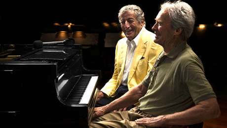 "Legends in our own time: Tony Bennett and Clint Eastwood share a laugh in ""Tony Bennett: The Music Never Ends"""