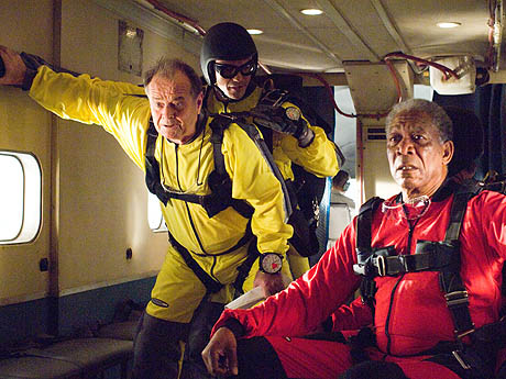 "Jack Nicholson and Morgan Freeman ride off into the wild blue yonder in ""The Bucket List"""