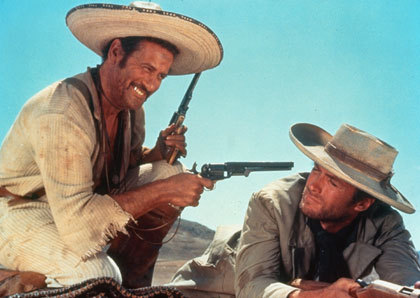 "Eli Wallach and Clint Eastwood are Westerns' odd couple in ""The Good, the Bad and the Ugly"""