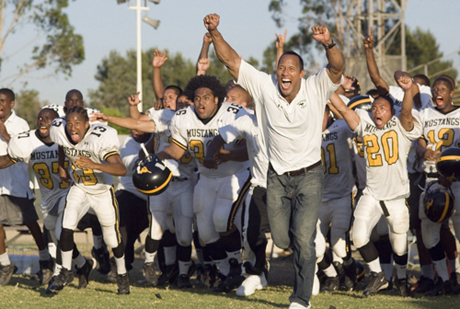 "Like a Rock: Dwayne Johnson inspires juvenile delinquents to disciplined excellence in ""Gridiron Gang"""