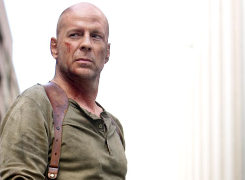 John McClane's finally lost all his hair, but he's still got his million mile stare