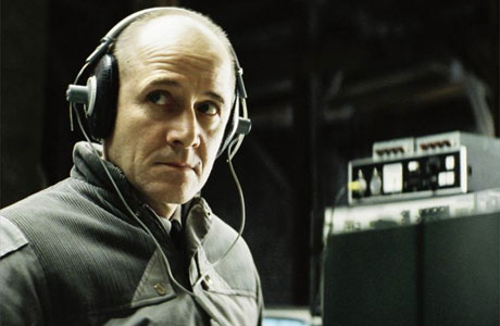 Ulrich Mühe, as Stasi agent Wiesler, is the ear in the wall listening to your most intimate whispers