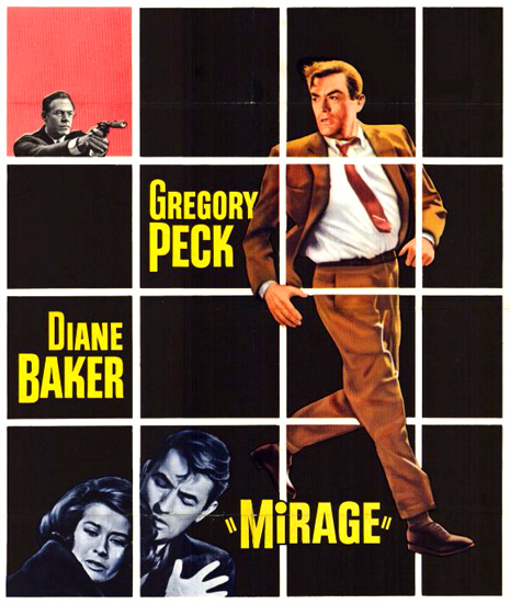 "George Kennedy, Diane Baker, and Gregory Peck in ""Mirage"""