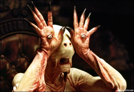 """""""I'm NOT ready for my close-up, Mr. DeMille!"""": Doug Jones as Goatboy in Guillermo del Toro's """"Pan's Labyrinth"""""""
